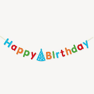생일 축하 문자 배너 (임의의 색)