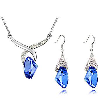Ékszer készlet Nyaklánc / fülbevaló Divat Ötvözet Fukszia Kék Nyakláncok Naušnice Mert Napi Hétköznapi 1set Esküvői ajándékok