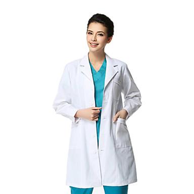 의료용 흰색 코트 긴 소매 비후 남성 xl