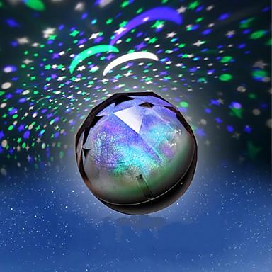 1db akkumulátor sztochasztikus minta éjszakai fény lámpa hazai projektor lámpák ragyogó gyémánt éjszakai fény