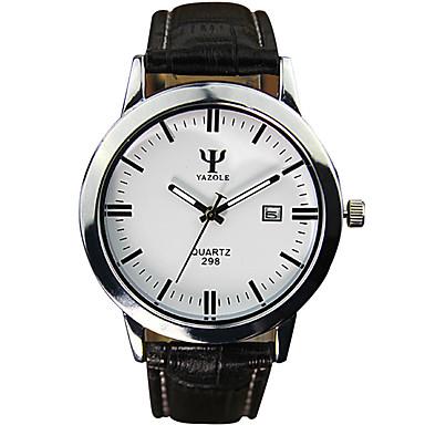 남성용 패션 시계 손목 시계 석영 캐쥬얼 시계 PU 밴드 멋진 블랙 화이트 레드 브라운