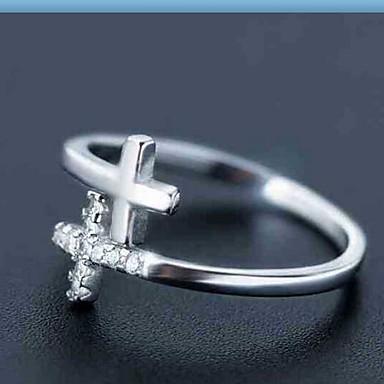 Gyűrűk Divat Napi / Hétköznapi Ékszerek Ezüst Női Karikagyűrűk 1db,Egy méret Fehér