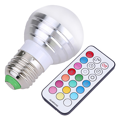 YWXLIGHT® 400 lm E26/E27 LED 글로브 전구 A50 4 LED가 SMD 밝기조절가능 장식 리모컨 작동 차가운 화이트 RGB AC 110-130V AC 220-240V AC 85-265V