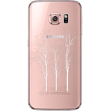 용 Samsung Galaxy S7 Edge 투명 / 패턴 케이스 뒷면 커버 케이스 나무 소프트 TPU Samsung S7 edge / S7 / S6 edge plus / S6 edge / S6