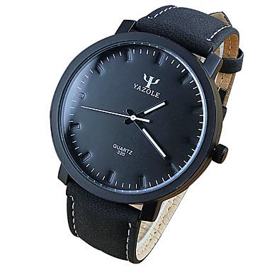 남여 공용 패션 시계 손목 시계 석영 캐쥬얼 시계 PU 밴드 멋진 블랙 브라운