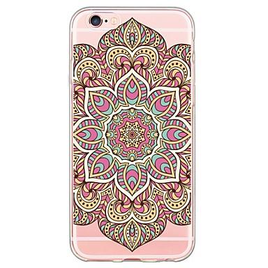 용 아이폰6케이스 / 아이폰6플러스 케이스 울트라 씬 / 반투명 케이스 뒷면 커버 케이스 레이스 디자인 소프트 TPU Apple iPhone 6s Plus/6 Plus / iPhone 6s/6 / iPhone SE/5s/5