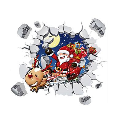 Dekoratív falmatricák - 3D-s falmatricák Karácsonyi dekoráció Nappali szoba Hálószoba Fürdőszoba Konyha Étkező Dolgozószoba / Iroda