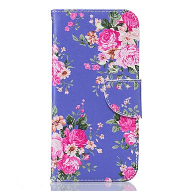용 Samsung Galaxy S7 Edge 지갑 / 카드 홀더 / 스탠드 / 플립 / 패턴 케이스 풀 바디 케이스 꽃장식 소프트 인조 가죽 Samsung S7 edge / S7 / S6 edge / S6 / S5