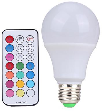 YWXLIGHT® 10 W 500 lm E26/E27 LED gömbbúrás izzók A60(A19) 12 led SMD Tompítható Dekoratív Távvezérlésű Hideg fehér RGB AC 110-130V AC