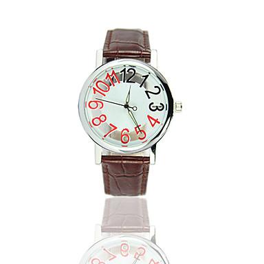 아가씨들 커플용 패션 시계 중공 판화 캐쥬얼 시계 석영 PU 밴드 블랙 브라운
