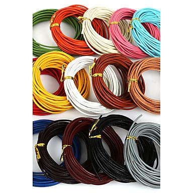 beadia 5 mts 2mm kerek bőr zsinór& huzal& string (15 szín)