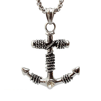 z015 유럽과 미국의 대외 무역은 해군 앵커 티타늄 스틸 목걸이 펜던트 (체인 제외)를 해적