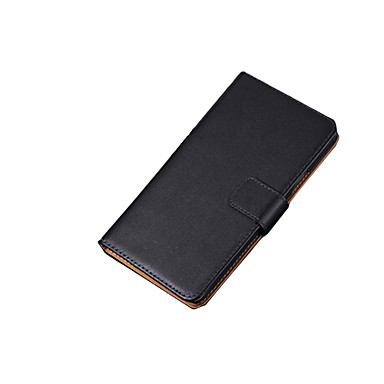 غطاء من أجل Samsung Galaxy حالة سامسونج غالاكسي حامل البطاقات / قلب غطاء كامل للجسم لون سادة جلد أصلي إلى S7 edge / S7 / S6 edge plus