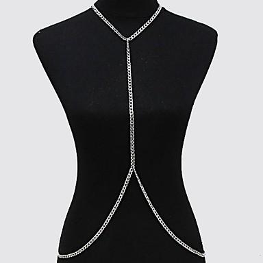Női Testékszer Deréklánc Body Lánc / Belly Chain Arannyal bevont Bikini minimalista stílusú Divat Arany Ezüst Ékszerek Napi Hétköznapi 1db