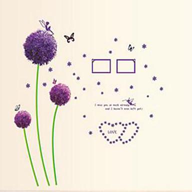 보태니컬 벽 스티커 플레인 월스티커 데코레이티브 월 스티커,PVC 자료 물 세탁 가능 / 이동가능 / 재부착가능 홈 장식 벽 데칼