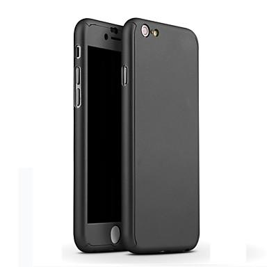 pc capinha dura película de vidro transparente luxo ouro cobertura cobertura de 360 graus para 6s iphone 6 / iphone 4.7 de metal de volta