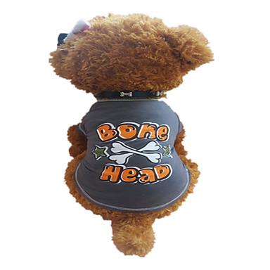 Cachorro Camiseta Roupas para Cães Respirável Carta e Número Estrelas Cinza Escuro Ocasiões Especiais Para animais de estimação