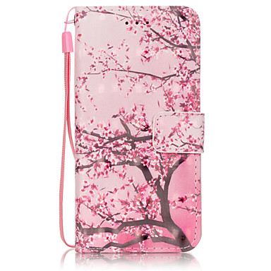 Mert iPhone 6 tok / iPhone 6 Plus tok Pénztárca / Kártyatartó / Állvánnyal / Flip / Minta Case Teljes védelem Case Fa Kemény Műbőr Apple