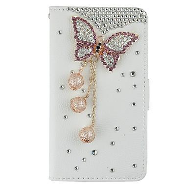 Case Kompatibilitás Samsung Galaxy Samsung Galaxy Note Kártyatartó Pénztárca Strassz Állvánnyal Flip Teljes védelem 3D figura Kemény