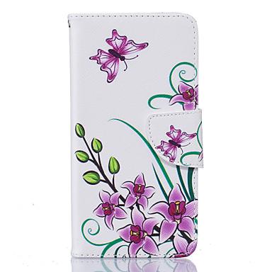 용 LG케이스 카드 홀더 / 지갑 / 스탠드 / 플립 / 패턴 케이스 풀 바디 케이스 꽃장식 하드 인조 가죽 LG LG K10 / LG K8 / LG K7