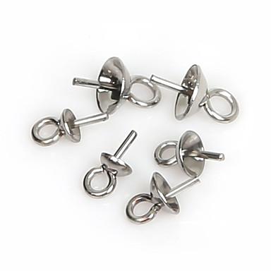 beadia 150db rozsdamentes acél szem pin fél lyuk varázsát medál (vegyes 3 méretben)