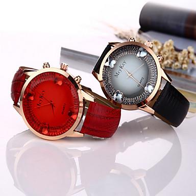 여성용 석영 손목 시계 / 뜨거운 판매 가죽 밴드 나비 패션 멋진 블랙 화이트 블루 오렌지 그린