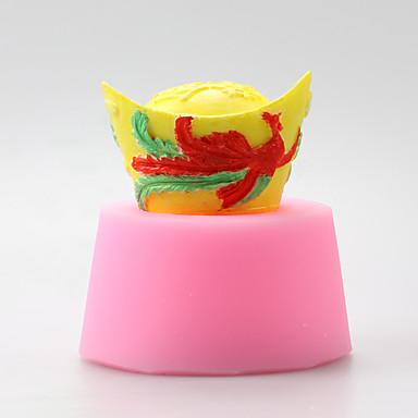 cipő alakú arany rúd csokoládé szilikon öntőforma, sütemény formák, szappan öntőformák, dekorációs szerszám bakeware