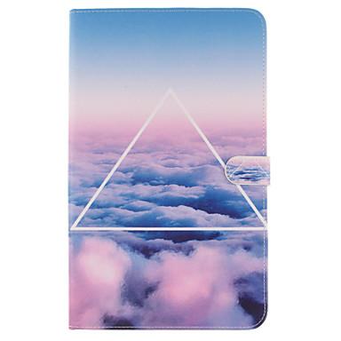 용 삼성 갤럭시 케이스 카드 홀더 / 지갑 / 스탠드 / 플립 / 패턴 케이스 풀 바디 케이스 풍경 소프트 인조 가죽 SamsungTab S2 9.7 / Tab E 9.6 / Tab E 8.0 / Tab A 9.7 / Tab A 8.0 / Tab