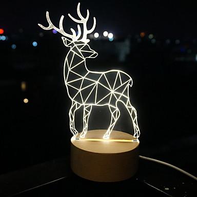 3 d led látás lámpa ajándék légkör asztali lámpa kis kedves éjszakai fény