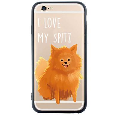 용 아이폰6케이스 / 아이폰6플러스 케이스 투명 / 패턴 케이스 뒷면 커버 케이스 개 하드 TPU Apple iPhone 6s Plus/6 Plus / iPhone 6s/6 / iPhone SE/5s/5