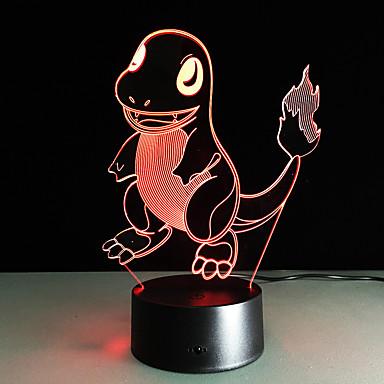 1 τμχ 3D Nightlight Τηλεχειριστήριο Νυχτερινή Όραση Μικρό Μέγεθος Αλλάζει Χρώμα Καλλιτεχνικό LED Μοντέρνο/Σύγχρονο