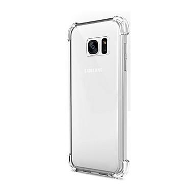 Mert Samsung Galaxy S7 Edge Ütésálló / Átlátszó Case Hátlap Case Egyszínű TPU Samsung S7 edge / S7