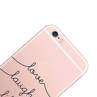 Case Kompatibilitás Apple iPhone X iPhone 8 iPhone 6 iPhone 6 Plus Minta Fekete tok Szó / bölcselet Kemény PC mert iPhone X iPhone 8 Plus