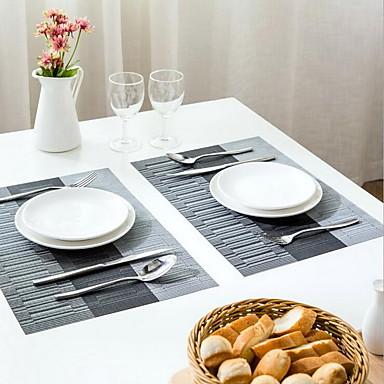 방수 비 슬립 3 스트 라이프 서양식 식품 패드 테이블 매트