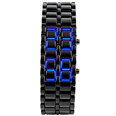남성용 손목 시계 독특한 창조적 인 시계 패션 시계 디지털 달력 LED 실리콘 밴드 뱅글 블랙 실버