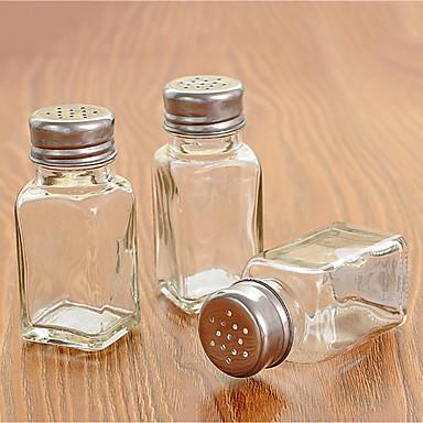 üveg egyetlen fűszeres üveg átlátszó fűszeres palack perforált fedéllel