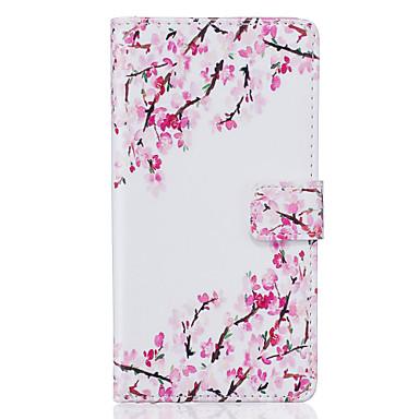 Mert Samsung Galaxy S7 Edge Kártyatartó / Pénztárca / Állvánnyal / Flip / Minta Case Teljes védelem Case Virág Puha Műbőr SamsungS7 edge