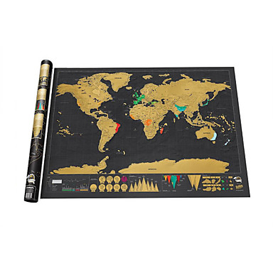 Scratch Map Family Map Fun Paper Classic Boys' Girls' Toy Gift