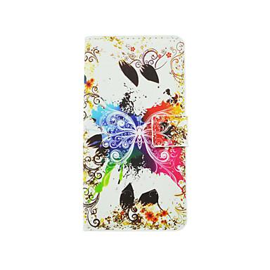 케이스 제품 LG G3 미니 그외 LG LG케이스 카드 홀더 스탠드 윈도우 플립 패턴 전체 바디 케이스 버터플라이 하드 PU 가죽 용 LG G4 스타일러스 / LS770