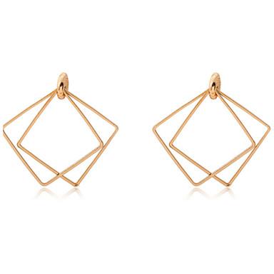 Francia kapcsos fülbevalók Duplarétegű Sexy Divat Ötvözet Circle Shape Square Shape Geometric Shape Arany Ezüst Ékszerek MertEsküvő Napi