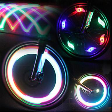 Fietsverlichting / ventieldopje zwaailichten / wiel lichten LED ...