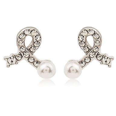 Pentru femei Cercei Stud Imitație de Perle Ștras La modă Personalizat Ștras Aliaj Bijuterii Pentru Zilnic Casual