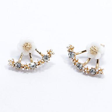Dames Oorknopjes Modieus Eenvoudige Stijl Kostuum juwelen Sterling zilver Bloemvorm Madeliefje Sieraden Voor Bruiloft Feest Dagelijks
