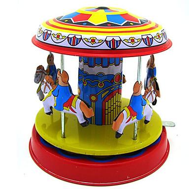 태엽 장난감 스트레스 해소 제품 장난감 오피스 / 비즈니스 노블티 원형 말 회전목마 철 메탈 빈티지 레트로 1 조각 크리스마스 생일 어린이날 선물