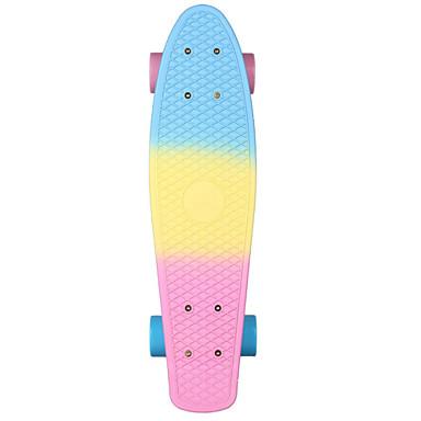 22 polegadas Cruisers skate Profissional PP (Polipropileno) Abec-7 - Azul+Rosa Arco-Íris
