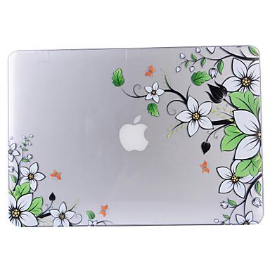 MacBook 케이스 용 전체 바디 케이스 투명 꽃장식 플라스틱 MacBook Air 13인치 MacBook Pro 13인치 MacBook Air 11인치 MacBook Pro 13인치 레티나