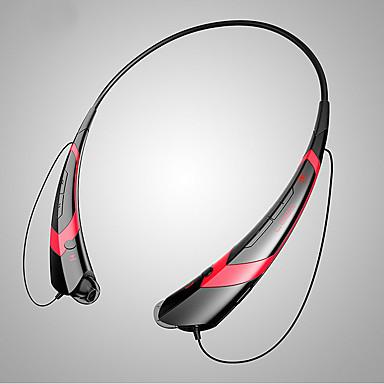 WX03 귀에 목 밴드 무선 헤드폰 동적 플라스틱 스포츠 및 피트니스 이어폰 볼륨 컨트롤 마이크 포함 헤드폰