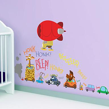 카툰 벽 스티커 플레인 월스티커 데코레이티브 월 스티커,PVC 자료 재부착가능 홈 장식 벽 데칼
