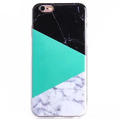 Case Kompatibilitás Apple iPhone 6 iPhone 6 Plus Other Fekete tok Márvány Puha TPU mert iPhone 6s Plus iPhone 6s iPhone 6 Plus iPhone 6