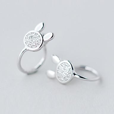Női Divat aranyos stílus luxus ékszer Ezüst Hamis gyémánt Animal Shape Ékszerek Kompatibilitás Napi Hétköznapi